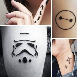 ejemplos de Tatuajes Disney minimalistas