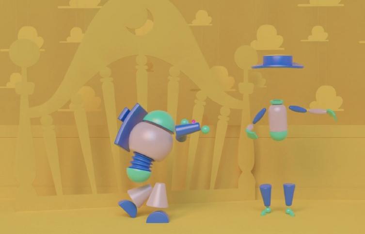 toy story geometrico video