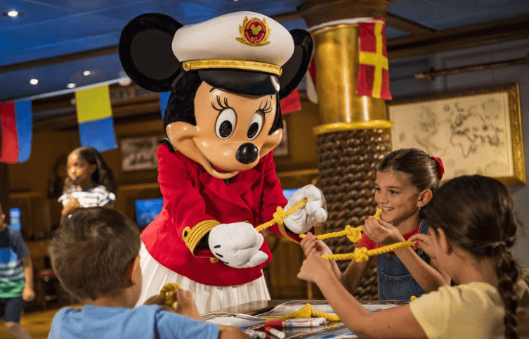 Actividades Capitana Minnie Mouse Disney Cruise Line